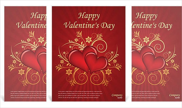 Valentines Day Flyer Template MS Doc File