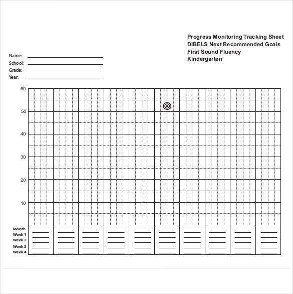 progress monitoring tracking sheet free pdf download