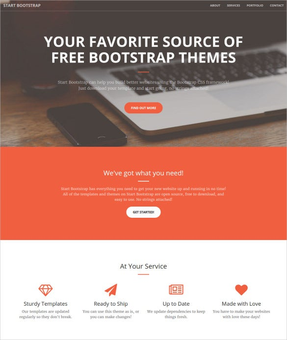 creative business bootstrap website template