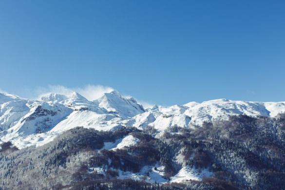 lovely winter mountains wallpaper