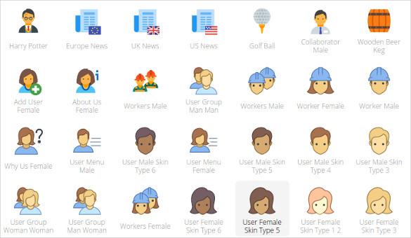 facial icons bundle downloads