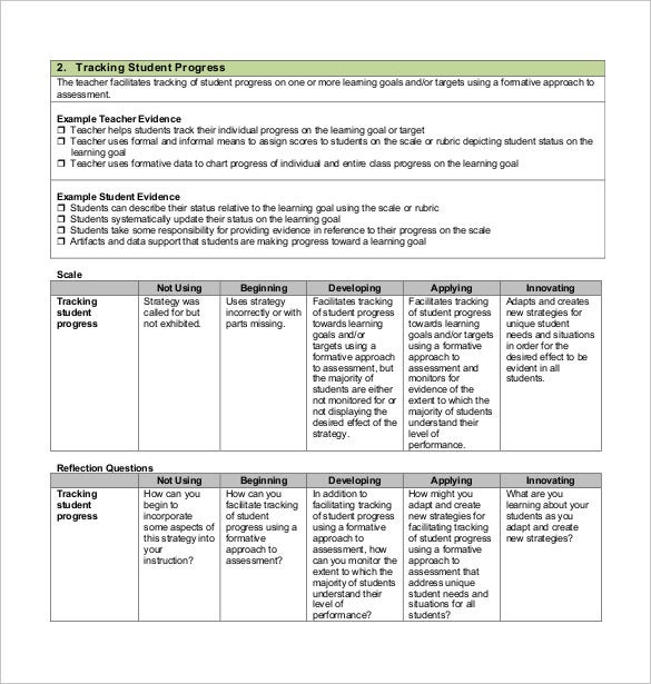 tracking student progress free pdf format template