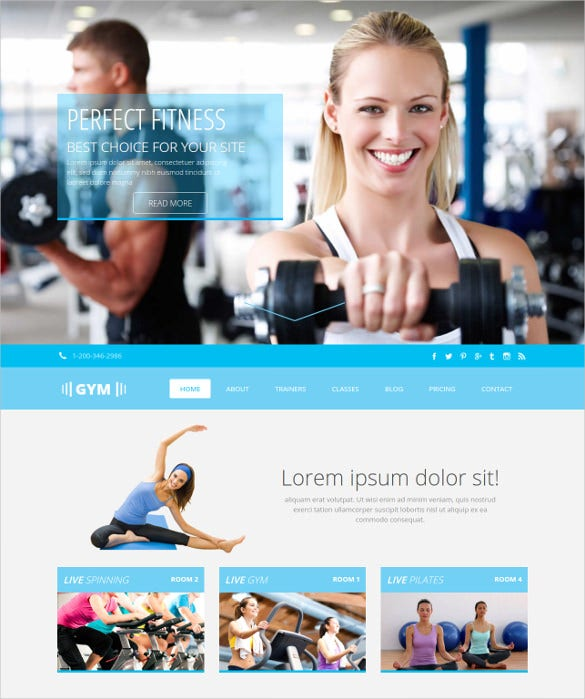 gym free css bootstrap template