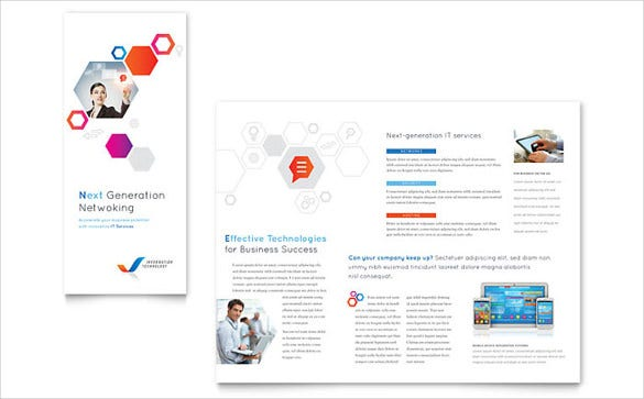 free tri fold brochure template in word format