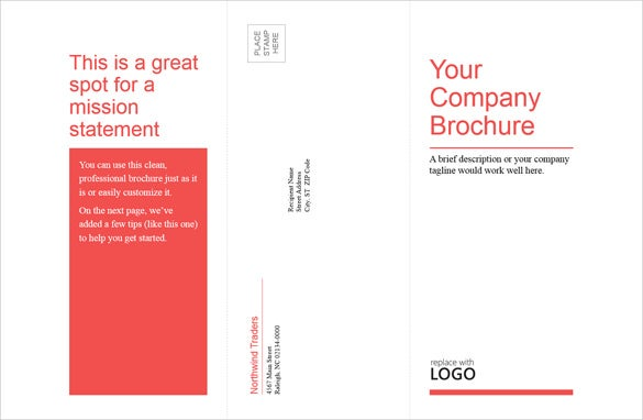 tri fold business medical brochure