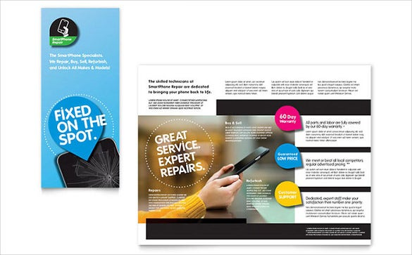 Charming Smartphone Repair Brochure Template Word Format Download  Microsoft Word Tri Fold Brochure