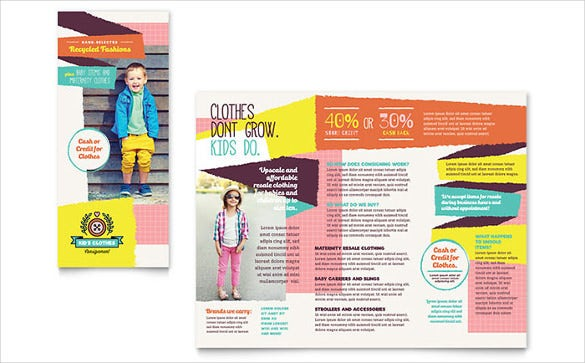 Nice Word Kids Consignment Shop Brochure Template Free Download On Free Download Word Template