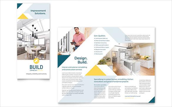contractor brochure template