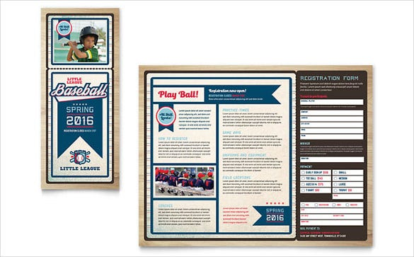 baseball brochure template 25 word tri fold brochure templates free download free