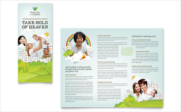 foster care adoption brochure template