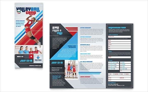 volleyball camp brochure template