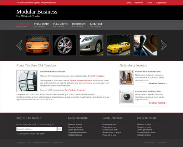 modular business free css website template