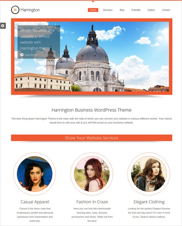 business fashion website template1