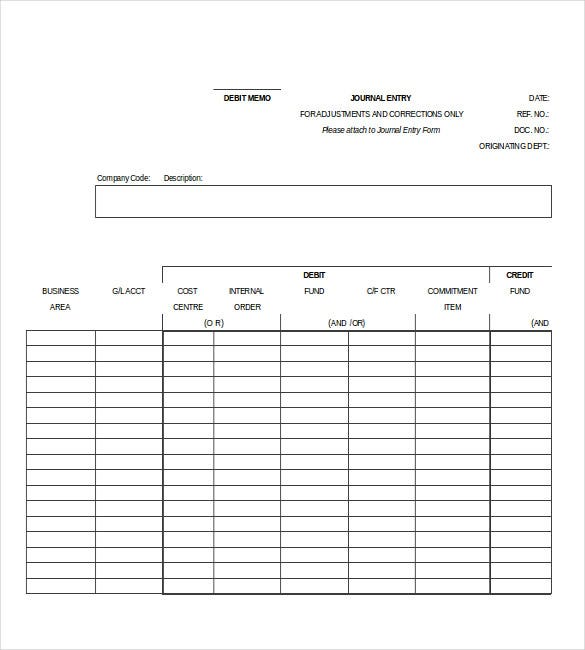 debit memo excel template free download