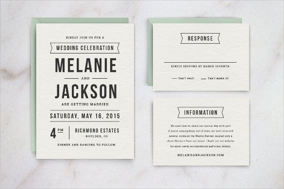 High Quality Wedding Invitation Template MS Word Format