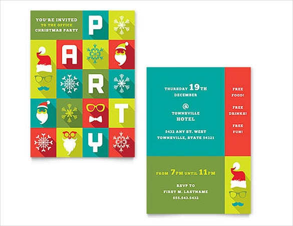 Christmas Party Invitation Word Template  Free Printable Invitation Templates For Word