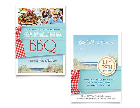 summer word invitation template