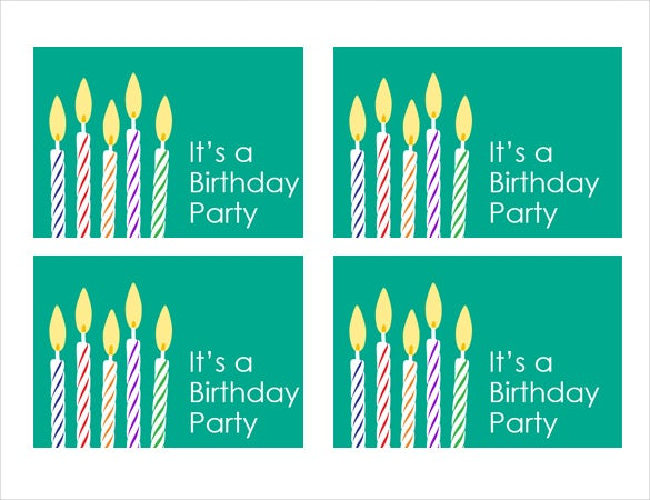 Birthday Invitation MS Word Format Template  Birthday Invitation Template Word