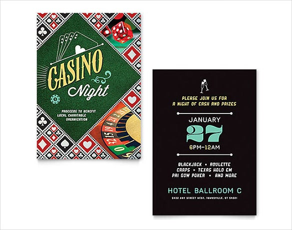 word casino night invitation template