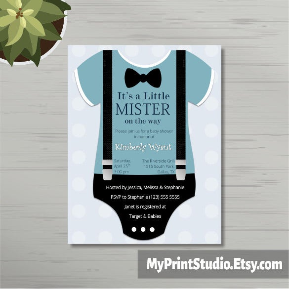 baby boy shower invitation for word