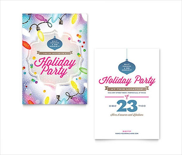 Holiday Party MS Word Invitation Template  Microsoft Office Invitation Templates