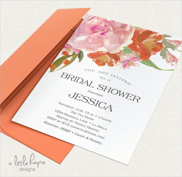 printable bridal shower invitation template word format