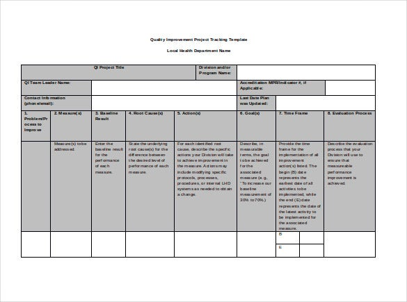 project tracking doc format template download