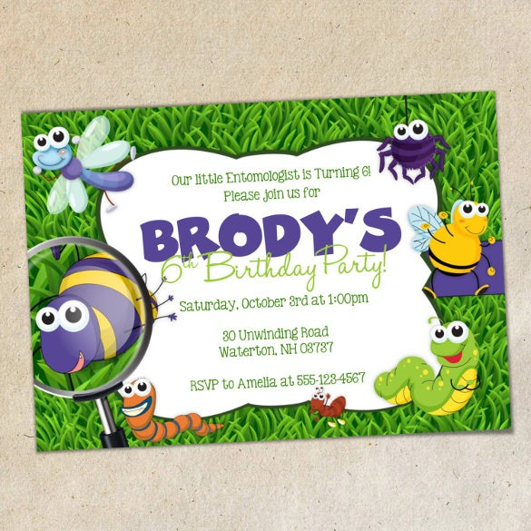 bugs party word 2010 format invitation template1