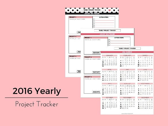 yearly project tracker template download