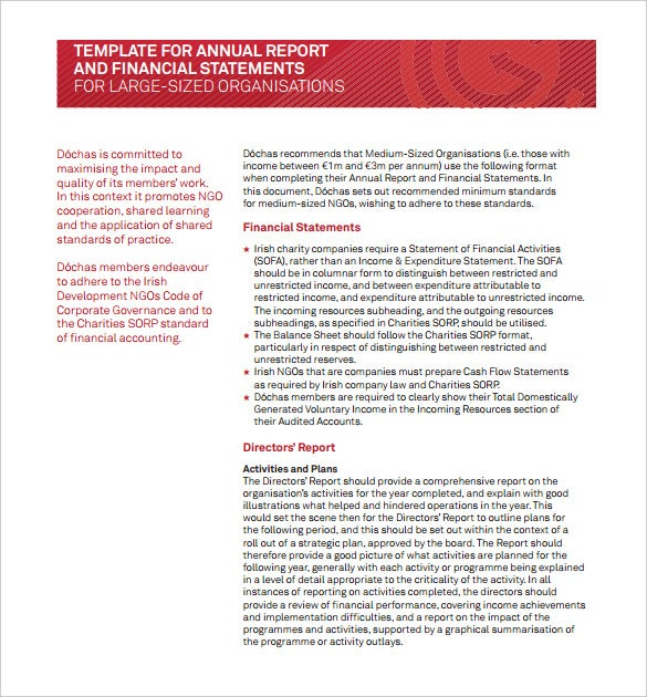 download annual financial management report template pdf format