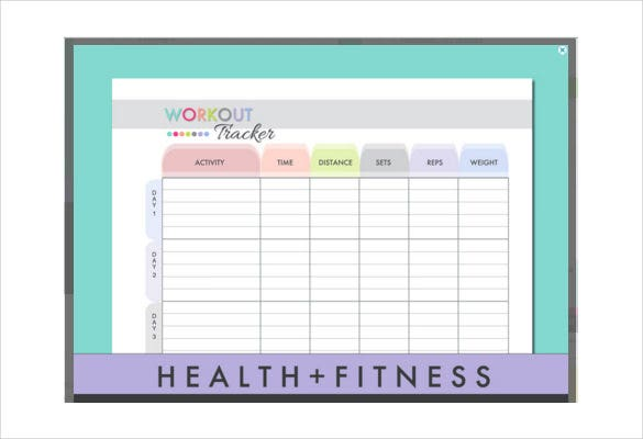 workout log tracker