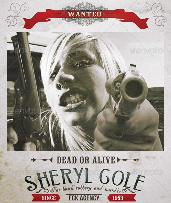 sheryl gole murderer wanted poster template