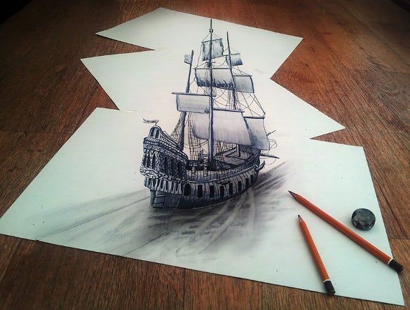 awesome titanic ship drawing