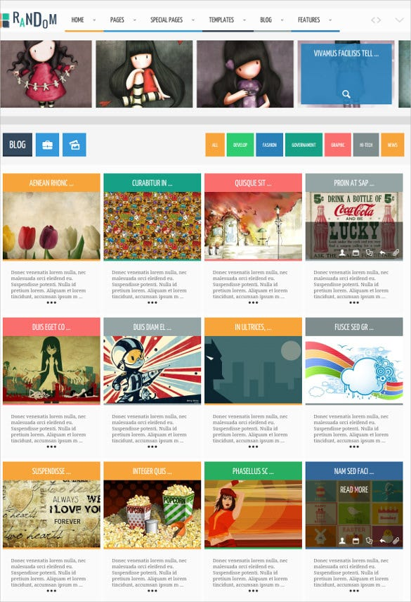 photography blogger website template