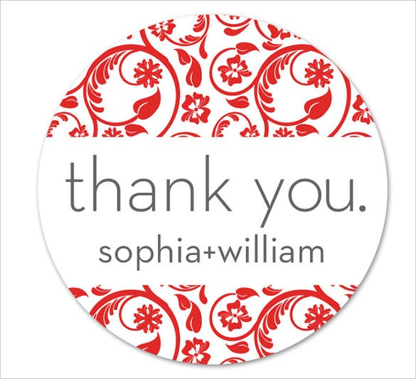 thankyou wedding label sticker for download