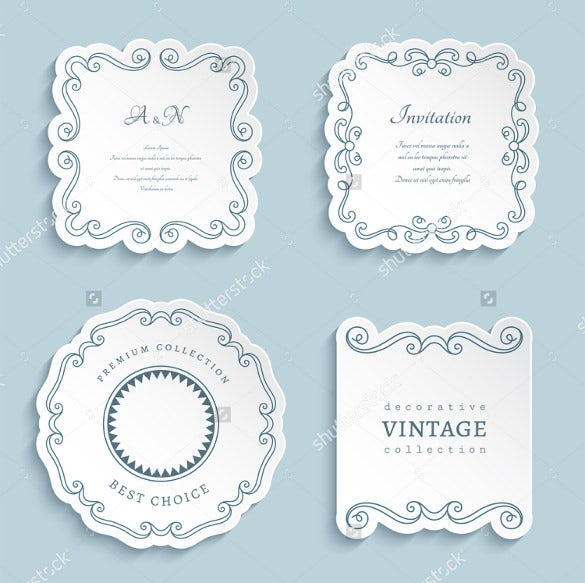 vector wedding label templates for download