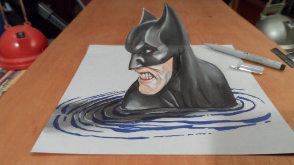 batman awesome 3d drawing