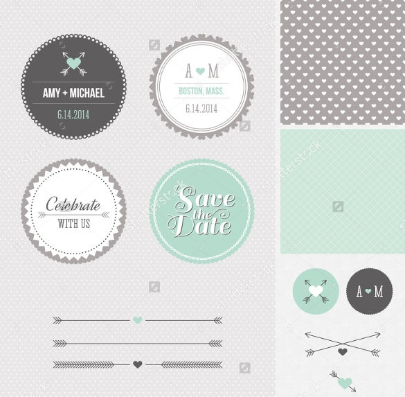 printable wedding label design