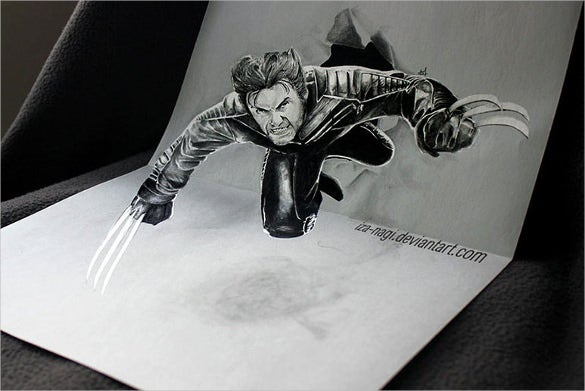 incredibly 3d drawing