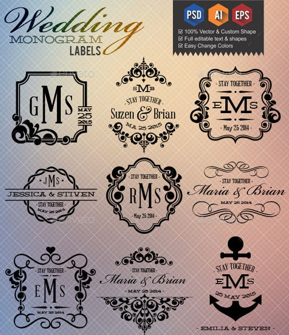 wedding label template 30 free sample example format download