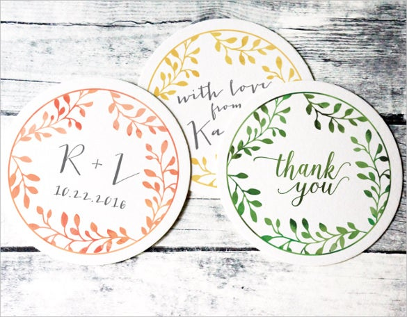 wedding label sticker for download