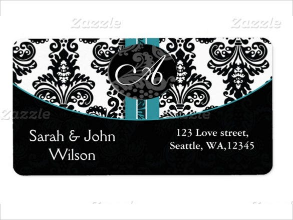 colorful wedding label template for download