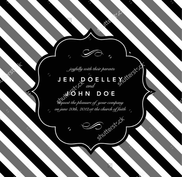 strips background wedding label template for download