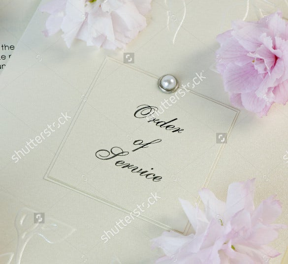 Elegant Wedding Order Of Service Template For Download  Order Of Service Template Free