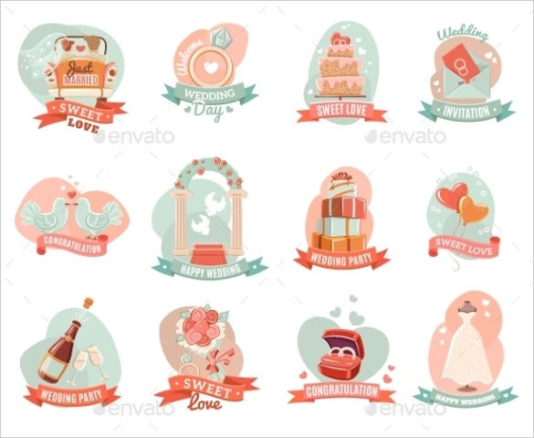 wedding sticker template for download1