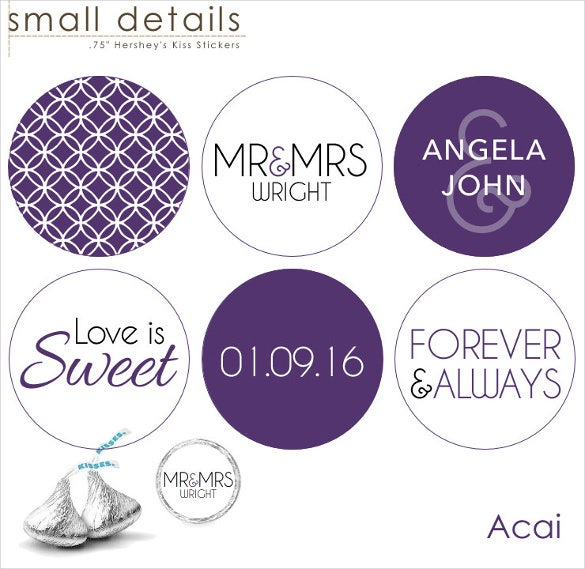 printable wedding sticker template for download