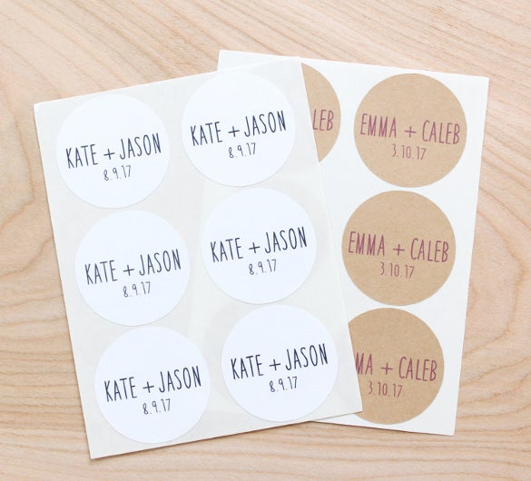 wedding sticker template instant download