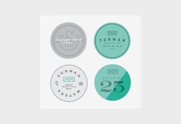 free wedding sticker template download