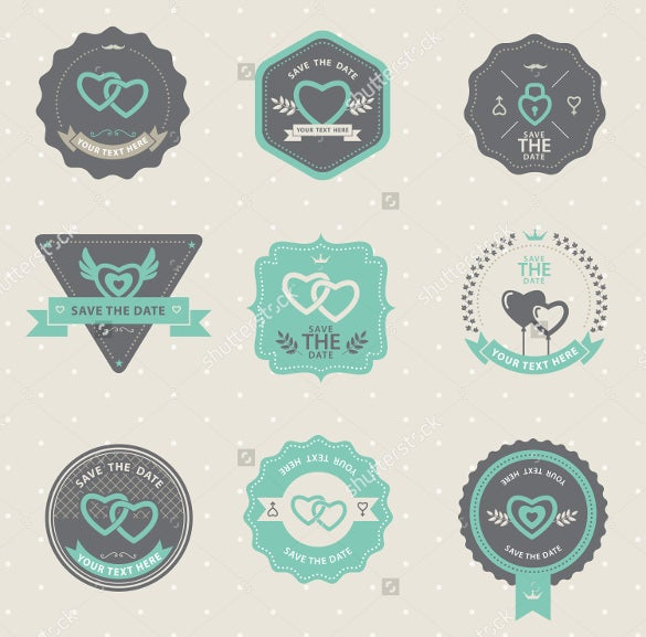 wedding sticker template design for download