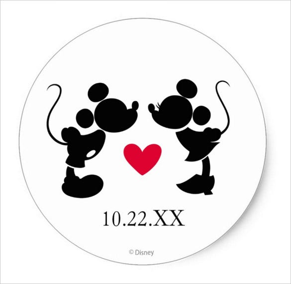 funny wedding sticker template for download